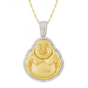 Ovani®-22 1 1/2 CT. T.W. Diamond Buddha Pendant In 22K Gold
