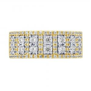 3/4 CT.T.W. Diamond Belle Fleur Band in 14K Gold
