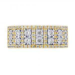 3/4 CT.T.W. Diamond Belle Fleur Band in 14K Gold