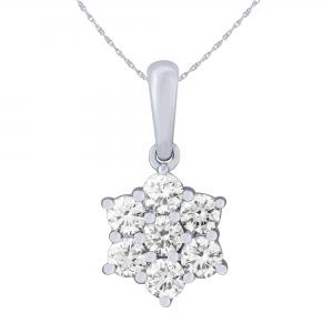 Ovani®-22 3/4 CT. T.W. Diamond Pendant In 22K Gold With 18K Gold Chain