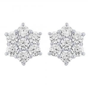 Ovani®-22 1 1/2 CT. T.W. Diamond Stud Earrings In 22K Gold