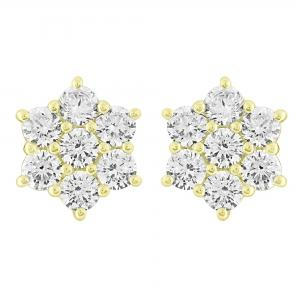 Ovani 22® 1 1/2 CT.T.W. Diamond Stud Earrings in 22K Gold