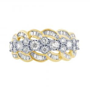 14KT GOLD 0.75CT DIAMOND RING