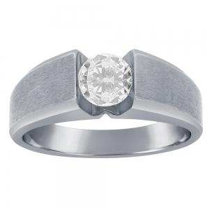 Ovani® 1.00 CT.T.W. Diamond Gents Ring in 18K Gold
