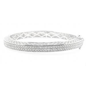 8.02 CT.T.W. Diamond 2Row Eternity Bangle in 18K Gold