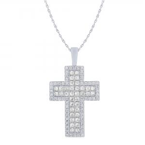 Ovani® 1 1/2 CT.T.W. Diamond Cross in 18K Gold