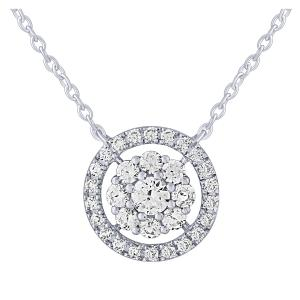 Ovani® 0.39 CT.T.W. Diamond Pendant in 18K Gold