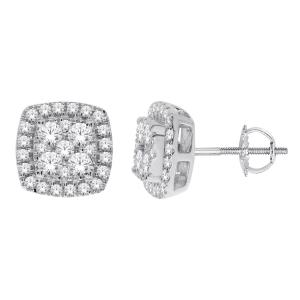 Everlasting Love® 1.00 CT. T.W Diamond Stud Earrings In 14K Gold