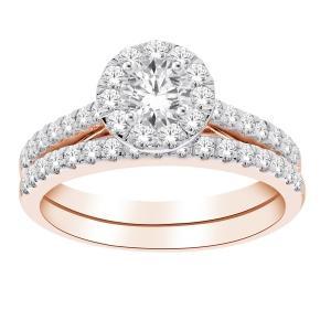 Diani® 1.00 CT.T.W. Diamond Bridal Set in 14K Gold