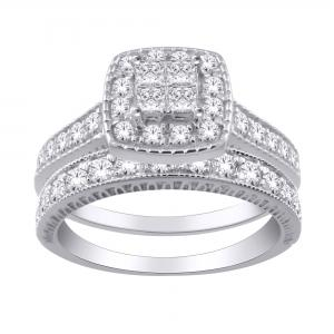 Everlasting Love® 1.75 CT. T.W. Diamond Bridal Set In 14K Gold