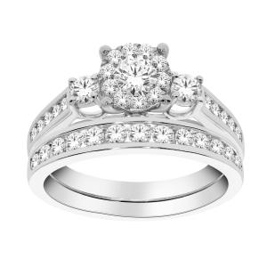 Diani® Collection 0.20 CT. Center and 1.00 CT. T.W. Diamond Bridal Set In 14K Gold