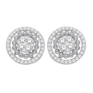 Everlasting Love® 2/5 CT. T.W. Diamond Stud Earrings In 10K Gold