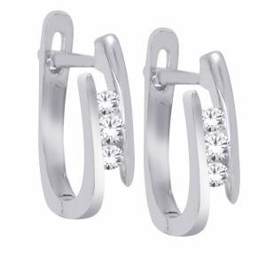 Everlasting Love® 3/20 CT. T.W. Diamond Hoop Earrings In 10K Gold