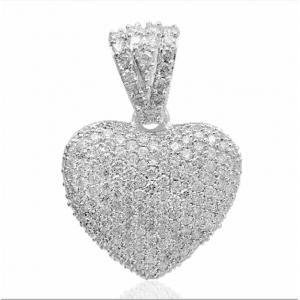 1.97 CT.T.W. Diamond Heart Pendant in 14K Gold