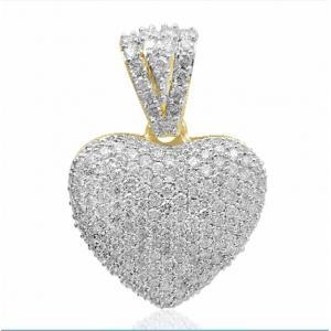 1.97 CT.T.W. Diamond Heart Pendant in 14K Gold