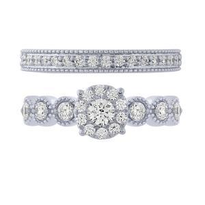 Love Spell® 1.00 CT. T.W. Diamond Bridal Set In 14K Gold