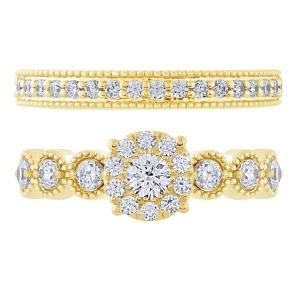 Love Spell® 1.00 CT.T.W. Diamond Bridal Set in 14K Gold