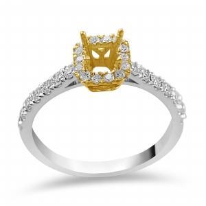 Novello 1/2 CT.T.W. Diamond Bridal Ring in 14K Gold