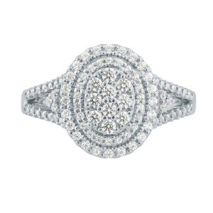 Ovani® 1/2 CT.T.W. Diamond Ladys Ring in 18K Gold