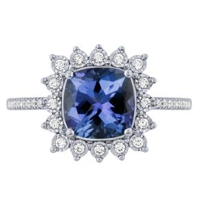 Sapphire and 1/5 CT.T.W. Diamond Ring in 14K Gold