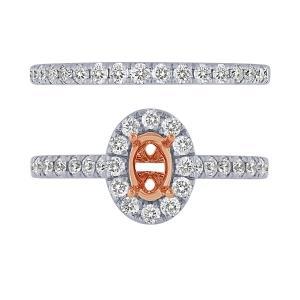 0.88 CT.T.W. Diamond Semi Mount Ring in 14K Gold