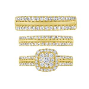 1.55 CT.T.W. Diamond Trio Set in 14K Gold