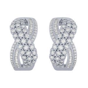 Diani® 1.00 CT.T.W. Diamond Earrings in 14K Gold