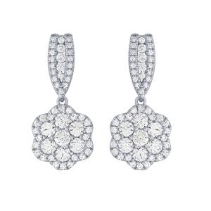 Ovani® Collection 2.00 CT. T.W. Diamond Earrings In 18K Gold