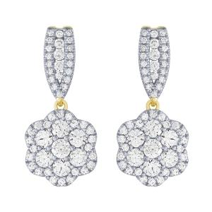Ovani® 2.00 CT.T.W. Diamond Earrings in 18K Gold