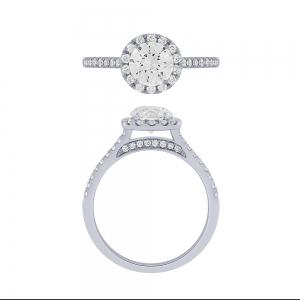 Ovani® Collection 0.4 CT. T.W. Diamond Semi-Mount with CZ Center In 18K Gold