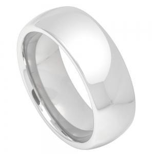 Cobalt High Polish Plain Classic Domed Band - 7MM Band