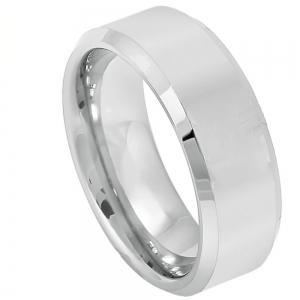 Cobalt Brushed Center Shiny Beveled Edge - 8MM Band
