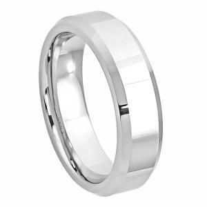 Cobalt High Polished Beveled Edge- 6MM Band