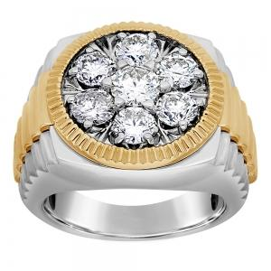 3.00 CT.T.W. Diamond Gents Ring in 14K Gold