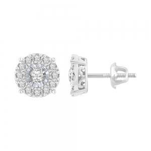 Ovani® 0.70 CT. T.W. Diamond Stud Earrings in 18K Gold