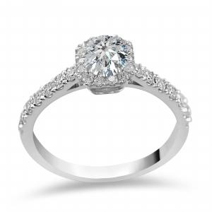 Novello-Collection 1/2 CT. Center and 1.00 CT T.W. Diamond Bridal Ring In 14K Gold