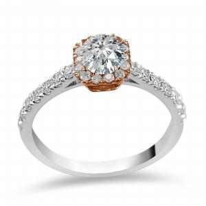 Novello 1/2 CT.T.W. Diamond Bridal Ring in 14K Gold