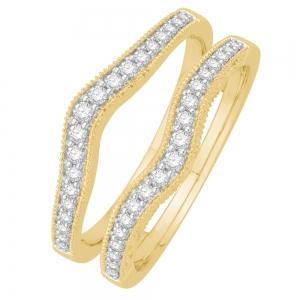 0.31 Ct. T.w. Diamond Enhancer In 14k Gold