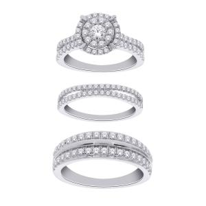 2 1/5 CT. T.W. Diamond Trio Set in 14K Gold