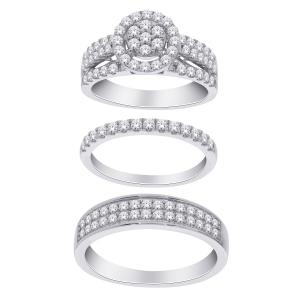 1 3/4 CT. T.W. Diamond Trio Set in 14K Gold