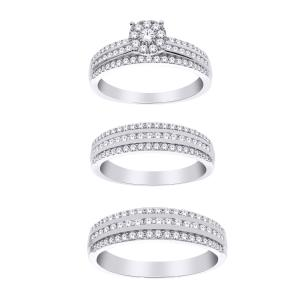 1 1/4 CT. T.W. Diamond Trio Set in 14K Gold