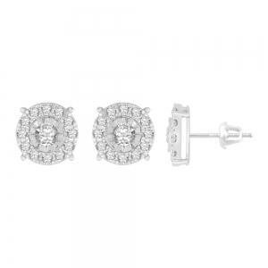 Ovani® 1 1/4 CT. T.W. Diamond Earrings in 18K Gold