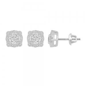 Novello 3/4 CT. T.W. Diamond Earrings in 14K Gold