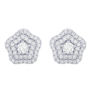 Novello 0.80 Ct. T.w. Diamond Earrings In 14k Gold