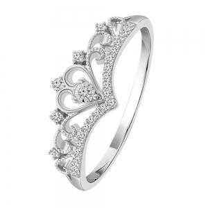 0.13 CT. T.W. Diamond Crown Ring In 14K Gold