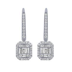 1/2 CT. T.W.  Diamond Earrings In 14K Gold