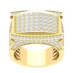 3.00 CT. TW. (VVS-VS CLARITY) DIAMONDS GENTS RING IN 14KT YELLOW GOLD