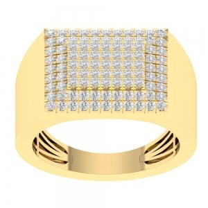 1.1CT. T.W. DIAMOND GENTS RING IN 14K GOLD  VVS2-VS2 CLARITY DIAMONDS
