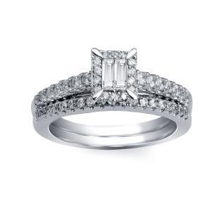 0.63CT. T.W. DIAMOND BRIDAL SET IN 14K GOLD