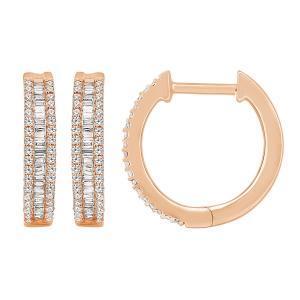 0.38CT. T.W. DIAMOND HOOP EARRINGS IN 10K GOLD